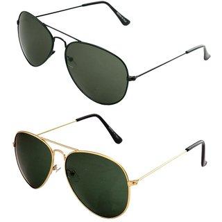 Closer Green Aviator Sunglasses For Men  Women-Combo-Xz265-290A