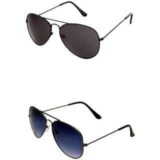 Closer Blue Aviator Sunglasses For Men  Women-Combo-Xz283-240A