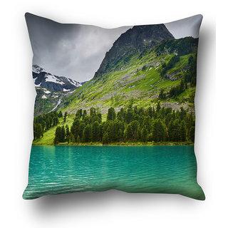 Beautiful Mountain in river Cushion Cover