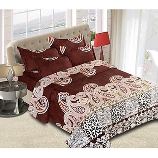 The Chaddar Double Bedsheet with Two Pillow Covers