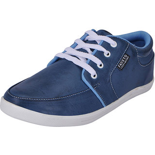 Fausto MenS Blue Sneakers Lace-Up Shoes (FST 1651 ROYAL BLUE)