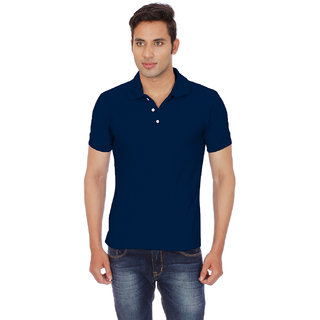 Chakravarthi Mens Navy Polo T - Shirt