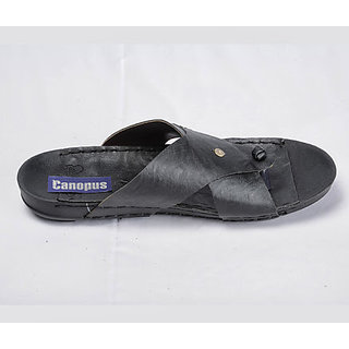 Canopus Black Casual Sandal For Men