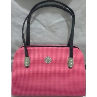 pink/black stylish hand bag