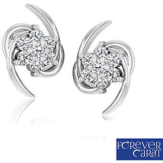 0 15ct Natural Diamond Earring Set 925 Sterling Silver Stud Er 0005s