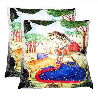 Rotomax Cushion Covers with Digital Print, Heavy Stone Work