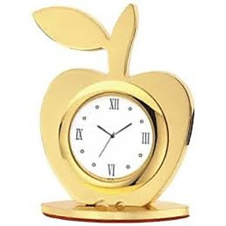 apple shape table clock