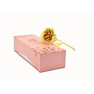 24k Carat Gold Rose With Gift Box