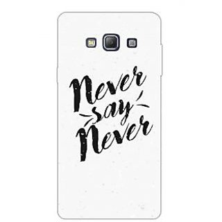 Never Say Never Typography