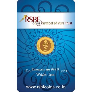 RSBL eCoins 1 gm Gold Coin 24kt purity 9999