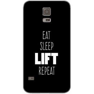 Eat Sleep Life Repeat - Typography