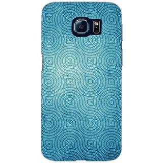 Grunge Blue Waves Pattern