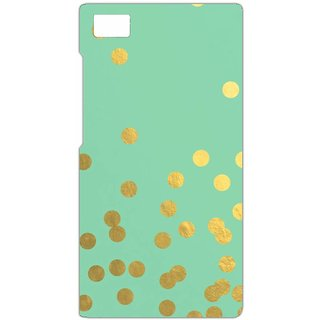 Golden Polka Dots with Mint Background