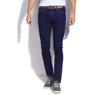 AZU Clothing Navy Blue Stretchable Skinny fit jeans