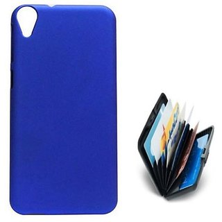 ClickAway  DBLUE  Stylish Rubberized Plastic Back Cover For Htc Desire 820  W