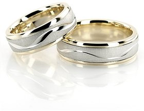 RM Jewellers 92.5 Sterling Silver American Promise Stylish Couple Band For Men and Women