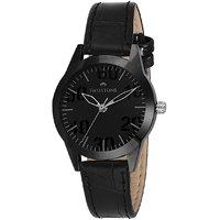 Swisstone VOGLR511-BLACK Black Dial Black Leather Strap