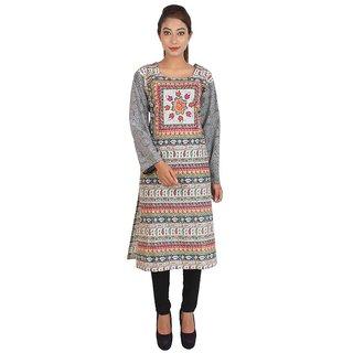 Deetya Multi-Color Cotton Printed Kurta