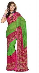 Iraya Green Georgette Printed Saree