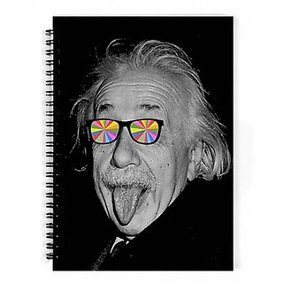 Dreambolic Color Makes Me Happy A5 Notebook Spiral Bound(Black)
