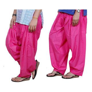 Indiweaves Women Cotton Semi-Patiala Salwar Set Of -2  7130115-Iw