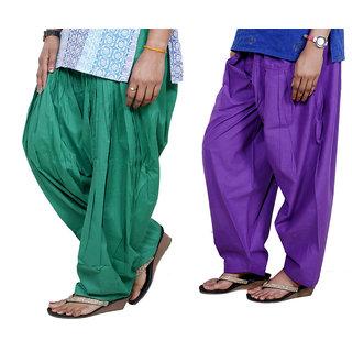 Indiweaves Women Cotton Semi-Patiala Salwar Set Of -2  7130219-Iw