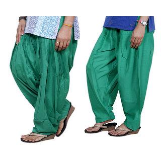 Indiweaves Women Cotton Semi-Patiala Salwar Set Of -2  7130221-Iw