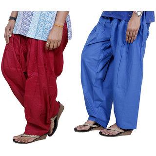 Indiweaves Women Cotton Semi-Patiala Salwar Set Of -2  7130314-Iw