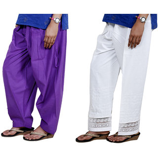 Indiweaves Women Cotton Semi-Patiala - Patiala Salwar Set Of -2  7131971324-Iw