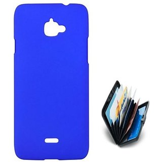 ClickAwayand Stylish Rubberized Plastic Back Cover For Infocus M350  Wit