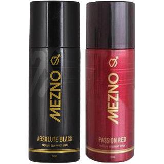 Mezno Fragrance Deodorant Body Spray For Men- Pack Of 2- 150ml Each