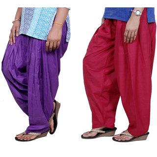 Indiweaves Women Cotton Semi-Patiala Salwar Set Of -2  7130712-Iw