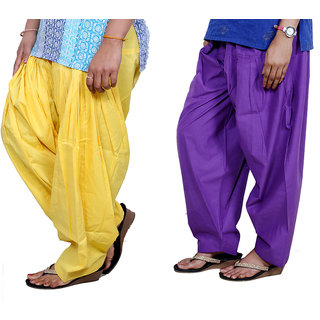 Indiweaves Women Cotton Semi-Patiala Salwar Set Of -2  7130819-Iw