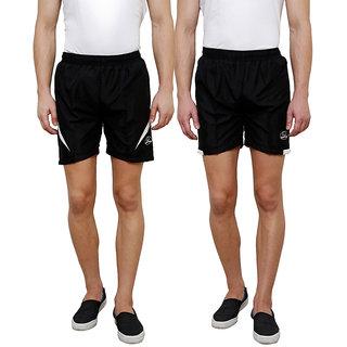 Grand Bear Men's Multicolor Shorts (Pack of 2)
