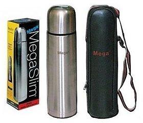 MegaSlim Stainless Steel 500ml Vaccum Flask Mega Slim Hot Cold Bottle
