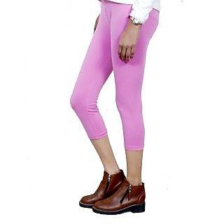 Indiweaves Girls Cotton Legging With Cotton Capri Set Of- 5  7180910050300-Iw
