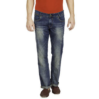 Mufti Mens Blue Boot Cut Fit Jeans