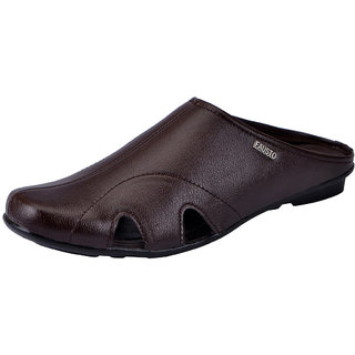 Fausto MenS Brown Slippers (FST 1083 BROWN)