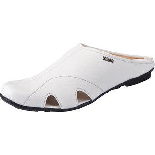 Fausto MenS White Slippers (FST 1083 WHITE)