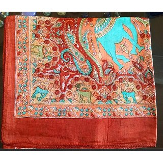 Closet Handmade Silk Scarves in Red Color
