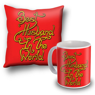 Buy Best Husband In The World Mug And Cushion Cover Valentine Gift