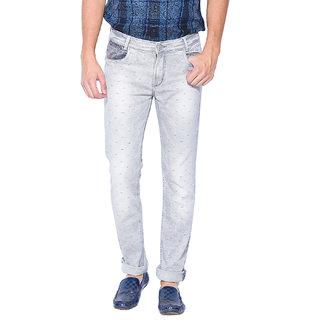 Mufti Mens Grey Narrow Fit Jeans