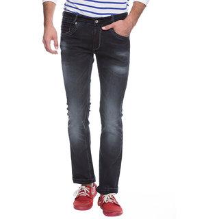 Mufti Mens Black Boot Cut Fit Jeans