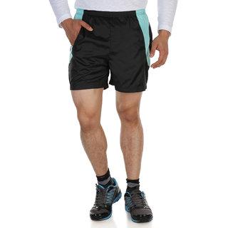 Dazzgear Black & Sea Green Color Running Shorts