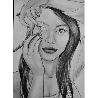 Self drawing girl