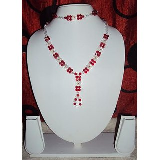 Crystal design  Traditional Necklace Set For Women  Low Price