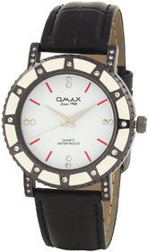 Omax Party Wear Ladies White Dial Watch