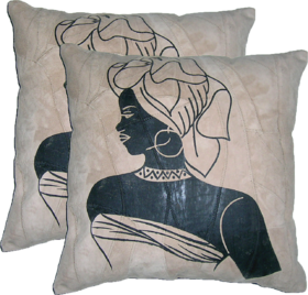 Pure Original Leather Set Of 2 Cushion Cover - Modern Lady