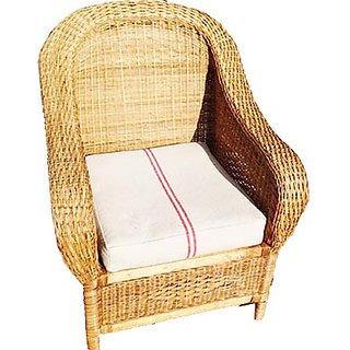 buy royal cane furniture bend handle single chair with cushion brown