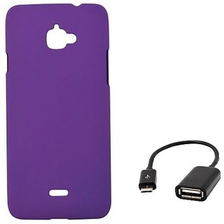 ClickAway and Stylish Rubberized Plastic Back Cover For Infocus M350  WIT